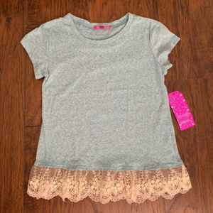 T-shirt with lace bottom(NWT)
